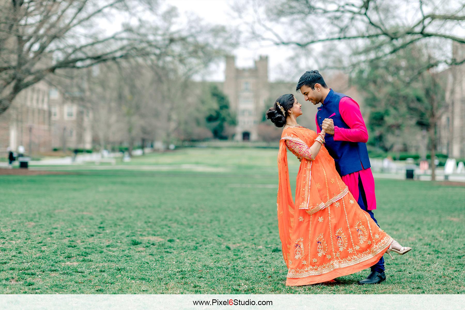 Aparna  & Ankeet | Duke Engagement session | North Carolina Indian Wedding
